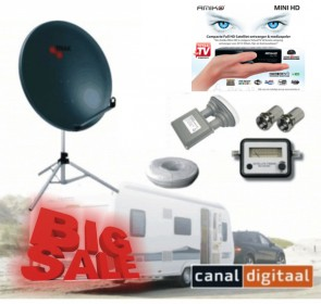 Complete Amiko mini HD satelliet campingset excl smartcard