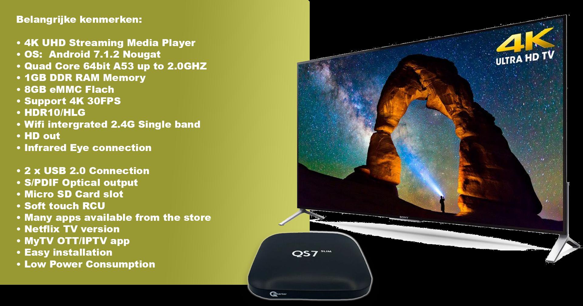Qsmarter QS7 Slim IPTV Box