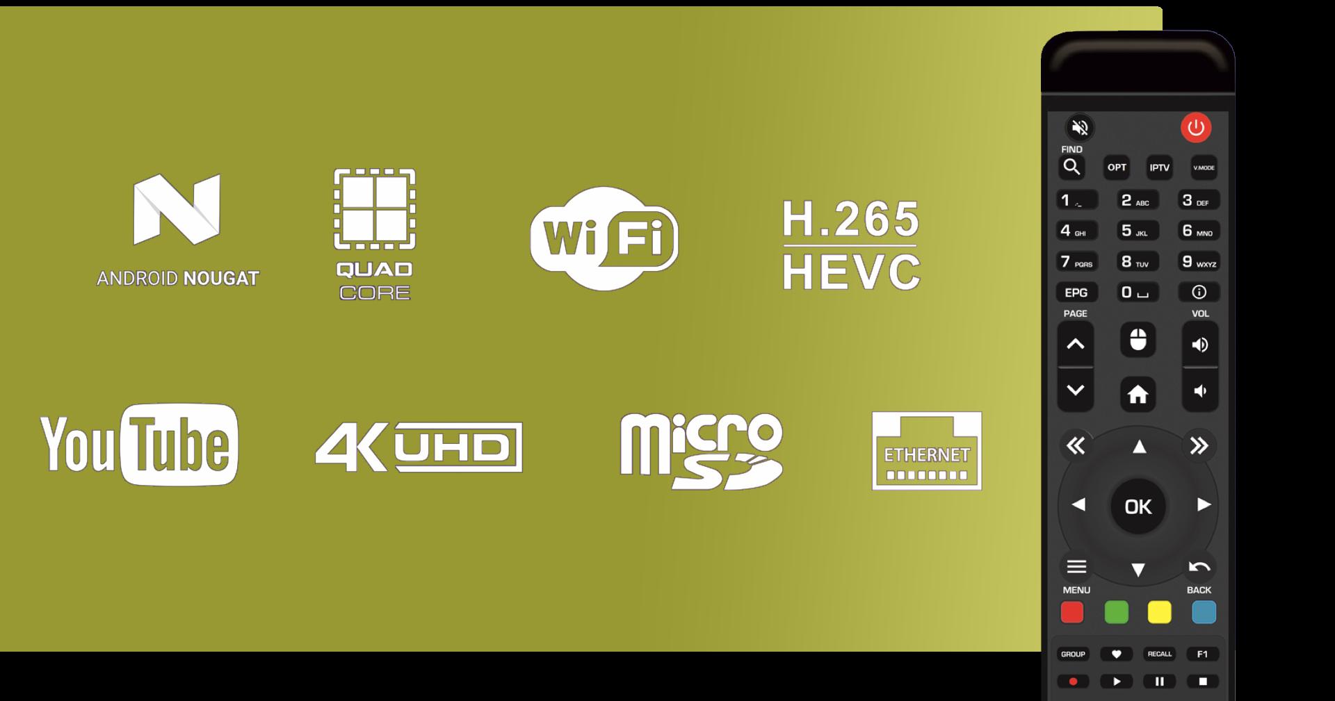 Qsmarter QS7 Slim IPTV ontvanger