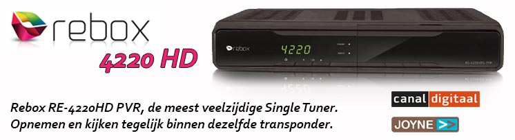 RE-4220HD S-PVR single tuner satelliet TV ontvanger - Rebox