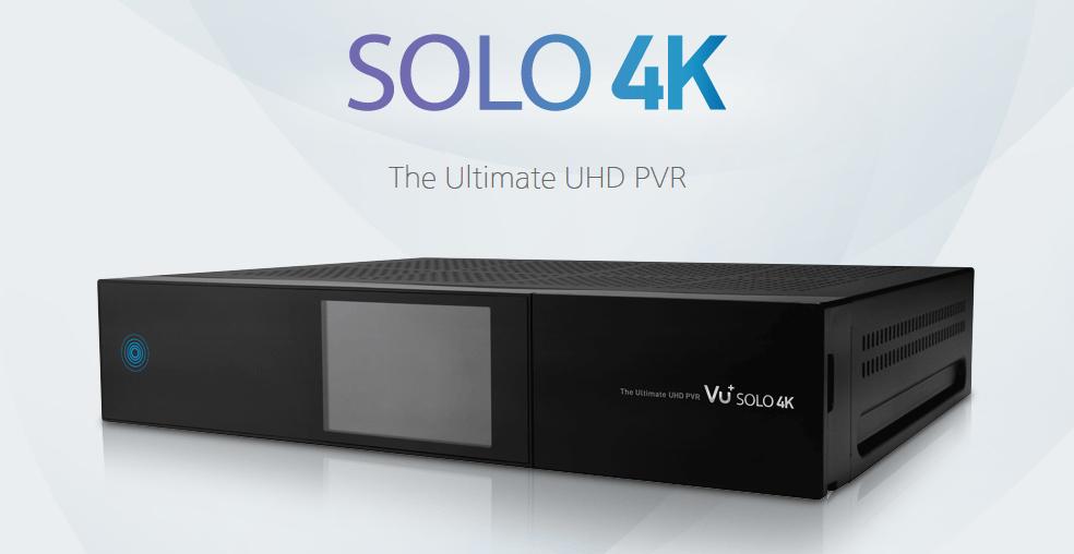 VU+ Solo 4K ULTRA HDTV Linux E2 Combo Receiver