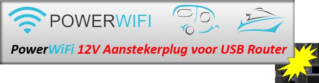 PowerWiFi 12V Aanstekerplug voor USB Router
